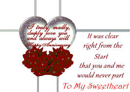 Sweet Wedding Anniversary Wishes For My Loving Wish For You Happy Anniversary Graphic