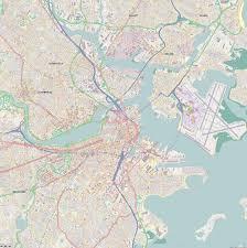 Map Boston Svg Scalable Vector City Map Boston