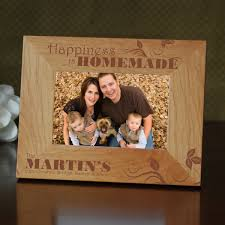 happiness is home made personalized family picture frame