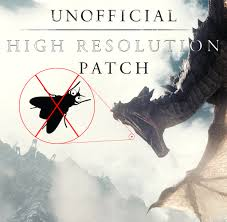 unofficial high resolution patch at skyrim nexus mods and community