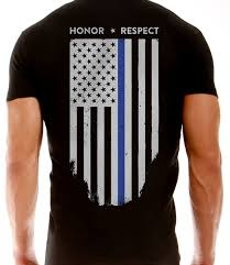 Awesome American Flag Shirts Thin Blue Line American Flag T Shirt Vertical Flag Black