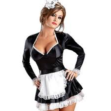 French Maid Halloween Costumes Naughty French Maid Costume Fancy Dress Size