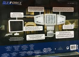 sunforce solar motion security light furniture sunforce led triple head solar motion activated light