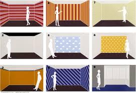 wandgestaltung mit farbe muster tapeten und farben verändern raumproportionen wohnen
