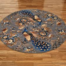 Round Colourful Rugs by Peacock Themed Home Decor Touch Of Class