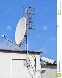 satellite dish and security camera stock photo image 59387246