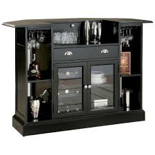 Bar Hutch Cappuccino Rectangular Bar Unit With 2 Shelves And Wine Holder