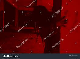 halloween ghost and haunted house background scary ghost woman haunted house horror stock photo 661910095