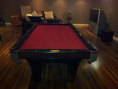 Red Felt Pool Table Bce Churchill Light Oak Snooker Pocket Table Recently Recovered In