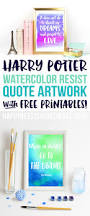 watercolor resist harry potter quotes happiness homemade