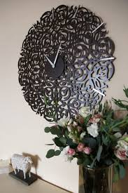 adorable decorative wall clocks for living room design decor brown