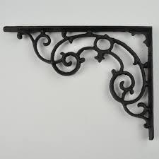 shelf bracket black cast iron brace custom shelves