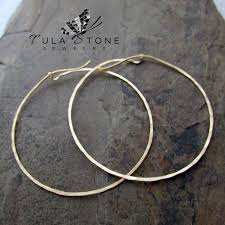 hammered hoops 14k gold fill large hammered hoops tula jewelry online