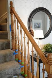 Oak Stair Banister How To Stain An Oak Banister The Idea Room