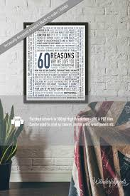 60 things for 60th birthday custom 60th birthday gift for 60 reasons why we you