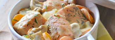 cuisine plat blanquette de saumon au roquefort recette blanquette de saumon