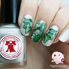 piggieluv green dragon nail art