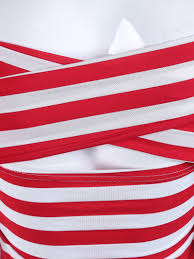 Red White Striped Flag Red White Striped Off The Shoulder Elastic Slim T Shirt Abaday Com