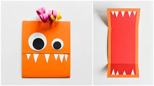 halloween greeting cards how to make easy greeting card monster birthday halloween step