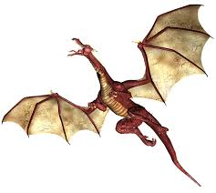 free illustration dragon flying wings fantasy free image