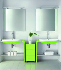 innovative bathroom ideas remarkable futuristic green cabinets idea in modern bathroom