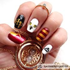 lacquered lawyer nail art blog harry potter