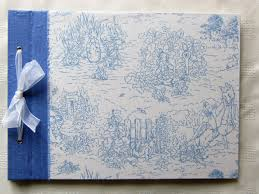 fabric photo album baby photo album large blue silk beatrix potter fabric album