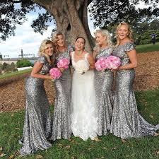 grey bridesmaid dresses aliexpress buy shinny grey bridesmaid dresses sequined with