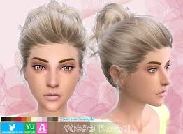 the sims 4 cc hair ponytail sims 4 hairs newsea yu093 rachel high ponytail with bow hairstyle