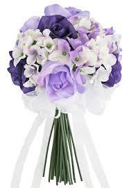 purple bouquets purple lavender tie small silk bridal wedding bouquet