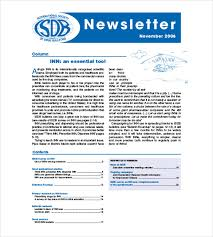 10 company newsletter templates u2013 free sample example format