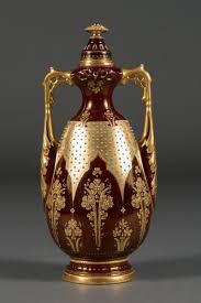 austrian vases antique austrian royal vienna porcelain jeweled iridescent portrait vase