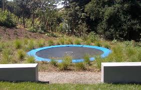 in ground trampoline landscape contemporary with none none