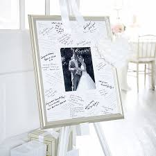 wedding autograph frame antique finish silver signing frame confetti co uk