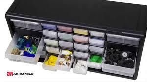 Plastic Storage Cabinet Akro Mils Plastic Storage Cabinets Youtube