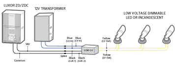 luxor cube and relay wiring diagrams hunter industries