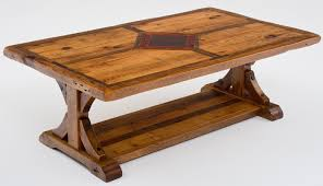 Trestle Coffee Table Stunning Trestle Coffee Table Rustic Coffee Tables Reclaimed