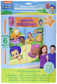 Bubble Guppies Birthday Decorations Amazon Com Bubble Guppies Wall Poster Decorating Kit 5pc Toys