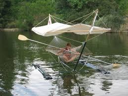 tent covered floating hammock kayak canoe