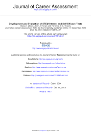 development and evaluation of stem interest and self efficacy