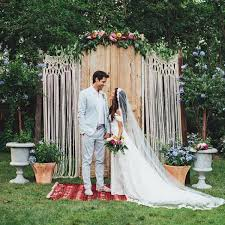 wedding backdrop ideas 15 macrame wedding backdrop ideas the bohemian wedding