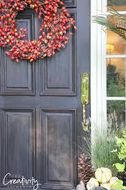 fall front door makeover wood front doors front doors and door