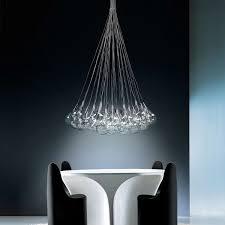 drop 37 light round multipoint pendant by alma light ylighting