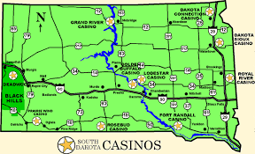 map south dakota south dakota casinos and gaming directory and guide