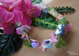 candy leis moana party inspiration candy leis