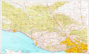 Los Angeles Area Map by Download Topographic Map In Area Of Los Angeles Oxnard Santa