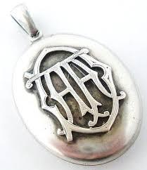 monogram locket 13 best monogramms images on jewellery monograms and