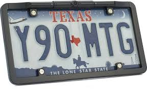 boyo vtl375hd rear view ultra slim license plate frame with