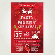 invitation merry christmas vector illustration royalty free