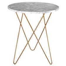 maison du monde bout de canapé table d appoint bout de canapé en marbre clair et métal doré